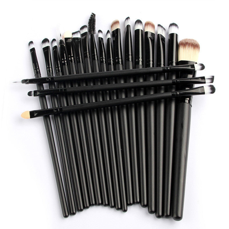 Pro 20Pcs Makeup Brushes Set Powder Blush Foundation Eyeshadow Eyeliner Lip Black Cosmetic Brush Kit Beauty Toolsa