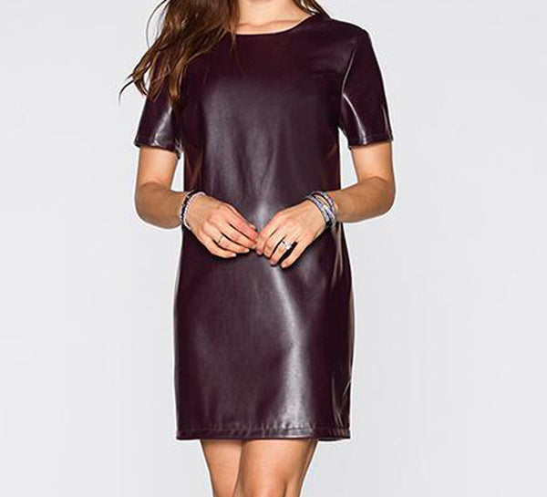 Online discount shop Australia - KAIGEnina Fashion Women Bandage Dress Sumem dress Leather Short Sleeve Sexy Party Bodycon Women's Clubwear Vestidos 2247