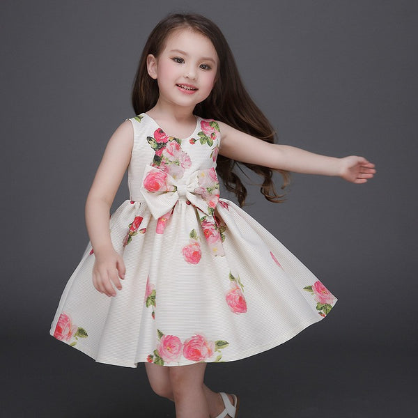 Online discount shop Australia - High-end girls dress baby girl embroidered princess dress kids girls cotton ribbons dress kids clothes