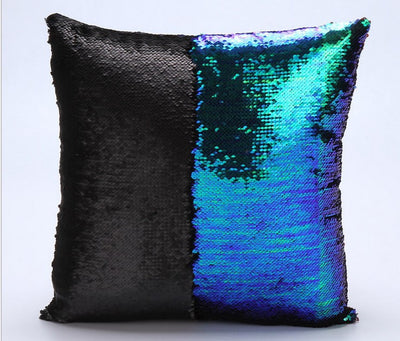 Sequin pillow magical changing reversible sequin throw pillow cover Home Decor Cushion Cover Decorative Pillowcase