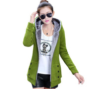 Women Casual Hoodies Coat Cotton Sportswear Hooded Warm basic Jackets Coats  Plus Size M-3XL