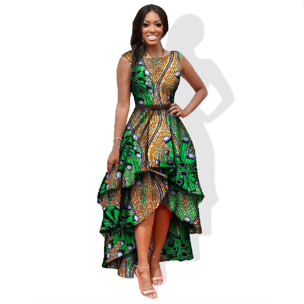 Online discount shop Australia - african clothes for women o-neck african embroidery bazin dress Dashiki women dress cotton african print dress big size WY447