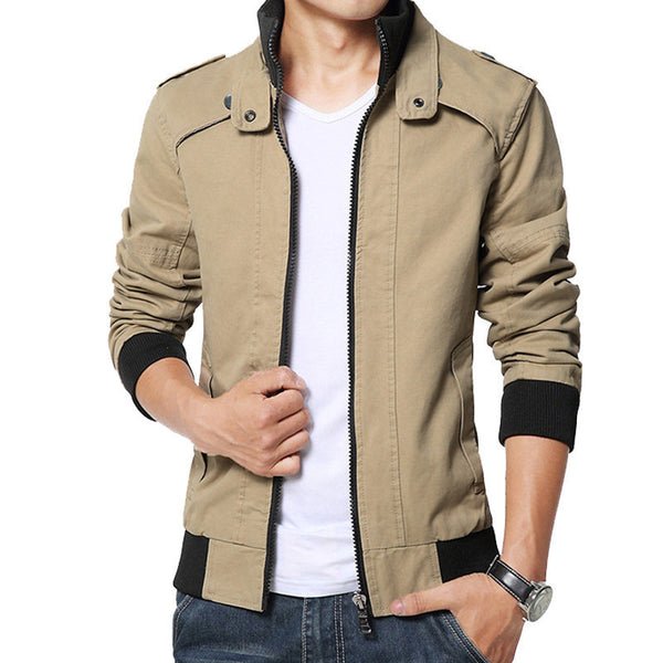 New fashion male casual jacket solid fall mens jackets and coats men's jacket plus size 3XL 4XL 5XL