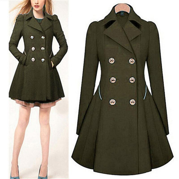 4b4b42b857d7 Trench Coat Womens Coat Classic waist was thin coat Women Trench Female  Long Sleeve Overcoat