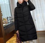 New Fashion Long Coat Slim Thickened Turtleneck Warm Jacket Cotton Padded Zipper Plus Size Outwear Casacos 4 Colors