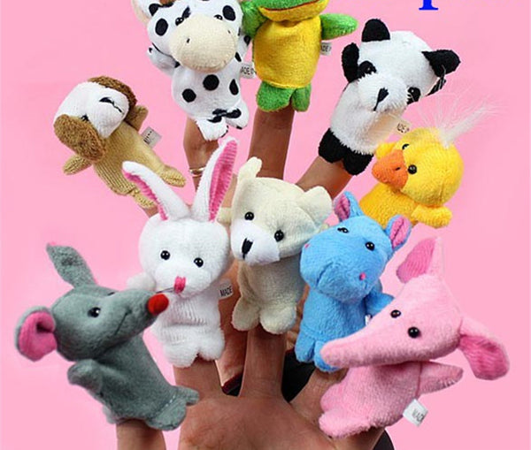 Online discount shop Australia - 10 pcs/lot Baby Plush Toy Finger Puppets Tell Story Props Animal Doll Kids Toys Children Gift (10 Animal Group)