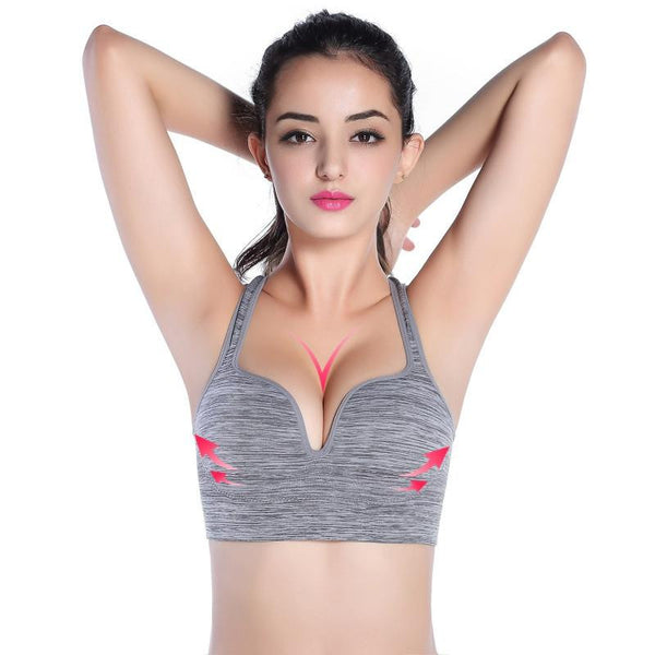 Sexy Women Seamless Bra Racerback Bras Workout Fitness Tank Top