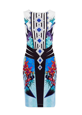 Women Dress Prom Cocktail Party Bodycon Tropical Floral Print summer Dress Desigual 2161