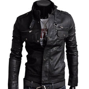 Online discount shop Australia - Classic Style Motorcycling PU Leather Jackets Men Slim Male Motor Jacket Men's Clothes MWP148