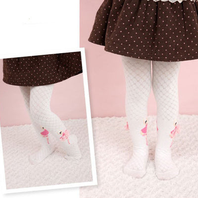 Online discount shop Australia - 1 pair Fashion Kids Toddler Children Clothes Ballet Girls lovely Pant hose Tights 2 color 3 sizes