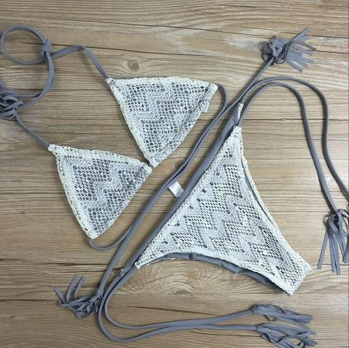 Sexy Bikini Set Woman Swimsuit Bandage Swimwear Soft Swimsuits Bathing Suit Crochet Bikinis B060