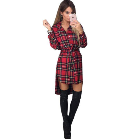 Online discount shop Australia - Autumn lattice Print Grid Dress Sexy Long Sleeve Office Dresses Bodycon Bandage Street Dress Fall Robe Pull Femme Hiver Vestidos