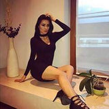 Online discount shop Australia - autumn winter fashion women red dress elegant bodycon dresses casual long-sleeved black short dress vestidos