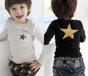 Online discount shop Australia - Cartoon star clothes costume kid clothes long sleeve t shirts girls boys' t-shirts