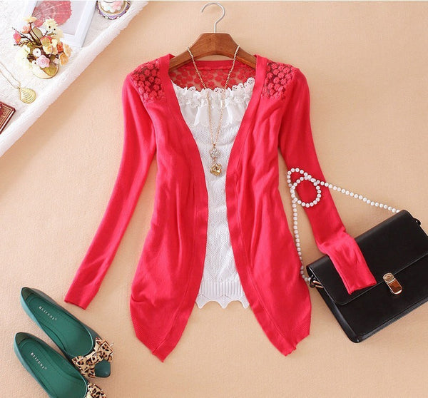 Online discount shop Australia - 21Color New Style  Fashion Jacket Girl Women's Lace Sweet Crochet Knit Blouse Cardigan Outerwear Coat