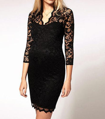 Women's Sexy Hollow Floral Lace Dress Evening Party Slim Fit Mini Wrap Dress