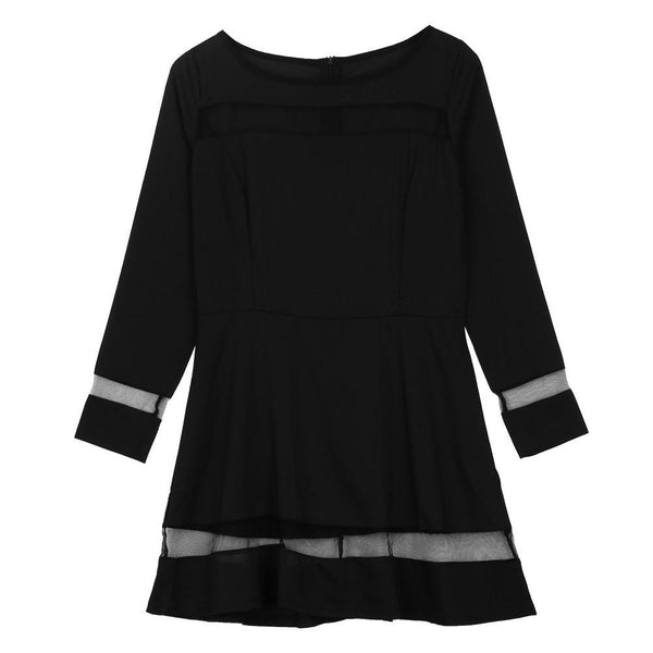 Women Bandage Bodycon Chiffon Mini Dress Long Sleeve Evening Sexy Party Mini Dress