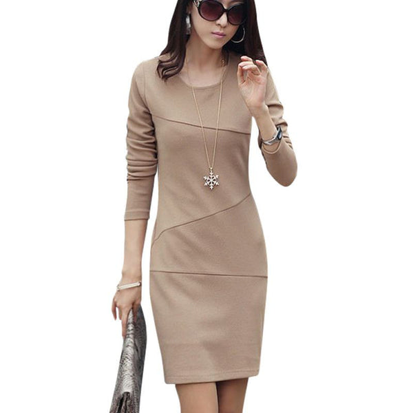 Online discount shop Australia - Fashion Sexy Evening Party Casual Dress Women Sexy Mini Dress Bandage Bodycon Long Sleeve dress