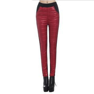 thick velvet down casual women's pants Skinny warm pants Leggings Women Fashion Stretch Trousers Z1692