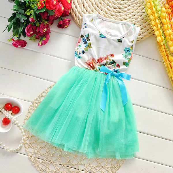 Online discount shop Australia - Girl Dress New Floral Baby Girl Dress Princess TuTu Dress 8 Colors Infant Dresses Kids Clothing With Bow