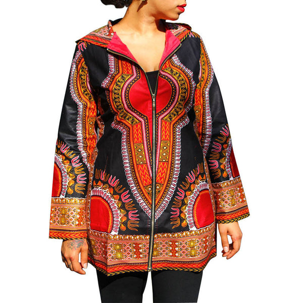 Online discount shop Australia - Fall Women Basic Coats Dashiki Plus Size Slim Traditional African Clothing Chaquetas  Coats and Jackets 50094