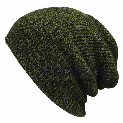 Online discount shop Australia - Casual Cotton Knit Hats For Women Men Baggy Beanie Hat Crochet Slouchy Oversized Ski Cap Warm Skullies