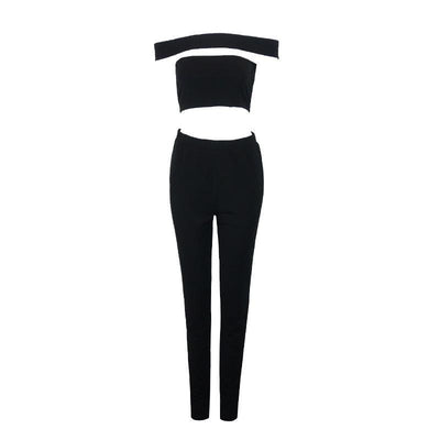Online discount shop Australia - Elegant one piece women long pants jumpsuits & rompers sexy casual girls playsuits cut out coveralls