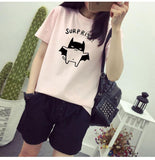 women blouses fashion printed brief wild social  korean  female  shirts