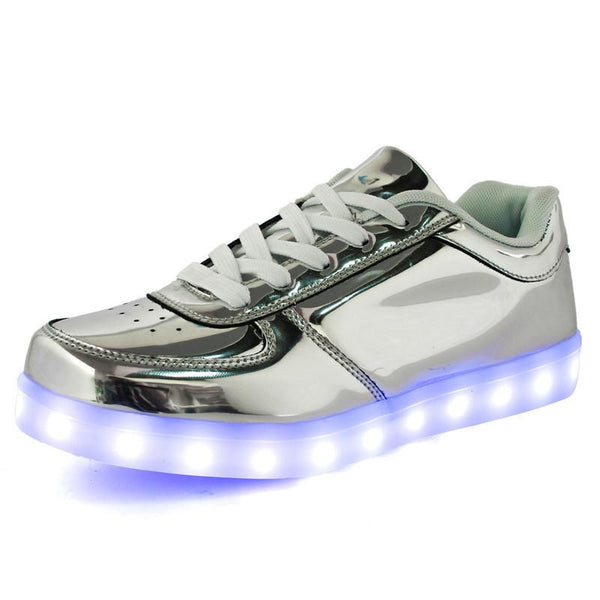 Women Colorful glowing led shoes with lights up luminous casual shoes simulation men Couples shoes for adults neon basket
