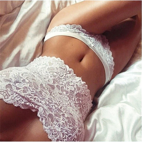Women 2 Pcs Set Sheer Lace Floral Crop Tops Bra Brief Underwear Sleepwear Beach Lingerie Bikini Tank Tops