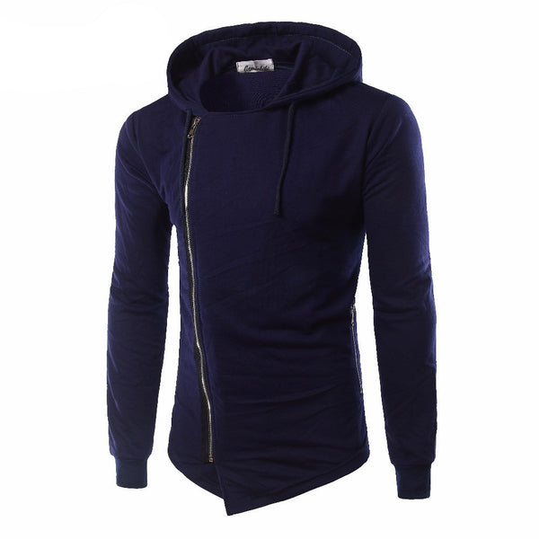 Online discount shop Australia - Mens High Quality Navy Blue Black Gray Men's Clothing Long Sleeves Homme Zipper Up Outerwear W09
