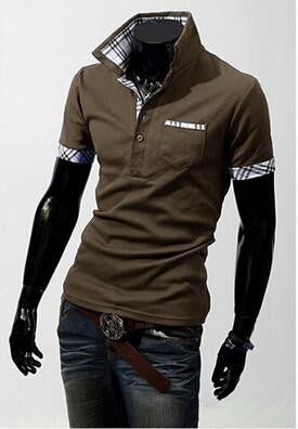 Top Quality Men T-Shirts Man male Solid Short Sleeve Men Clothing T-shirts Tees