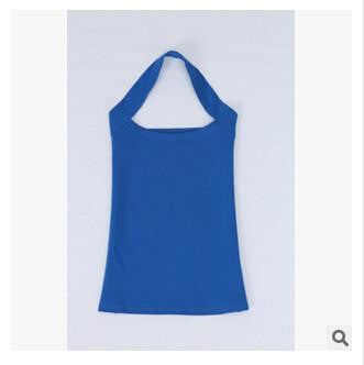 Women Halter Neck Sheath slim vest sexy camis soft Candy colors cotton shirt tank tops sleeveless garment for girl