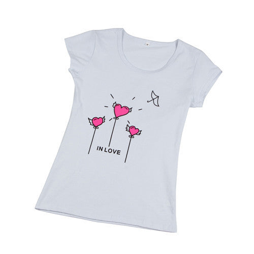 Fashion Cartoon Print Short Sleeve for Women Teenagers Cotton Top WT1010As the picture 3Sa