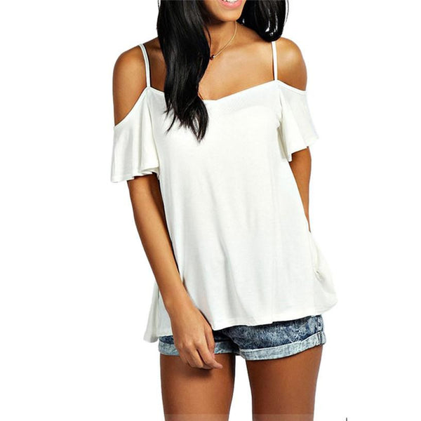 Online discount shop Australia - Fabulous  for Women  Casual Solid Stretch   off the shoulder tops for women