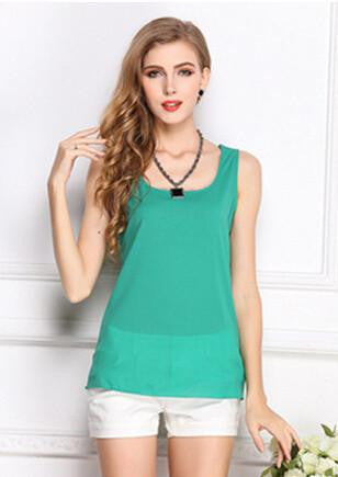 Online discount shop Australia - Fashion   Women Clothes Chiffon Vest Sleeveless Tops Causal t shirt Women Vest tops 16 colors Vest Fashion