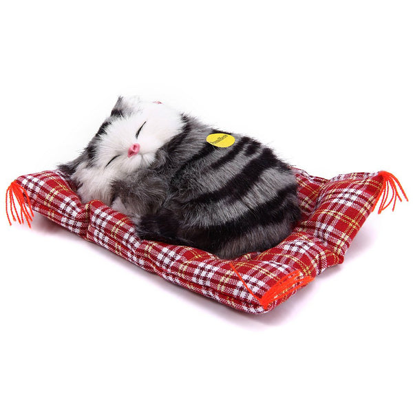 Online discount shop Australia - Lovely Simulation Animal Doll Plush Sleeping Cats Toy with Sound Kids Toy Birthday Gift Doll Decorations stuffed toys kidstime