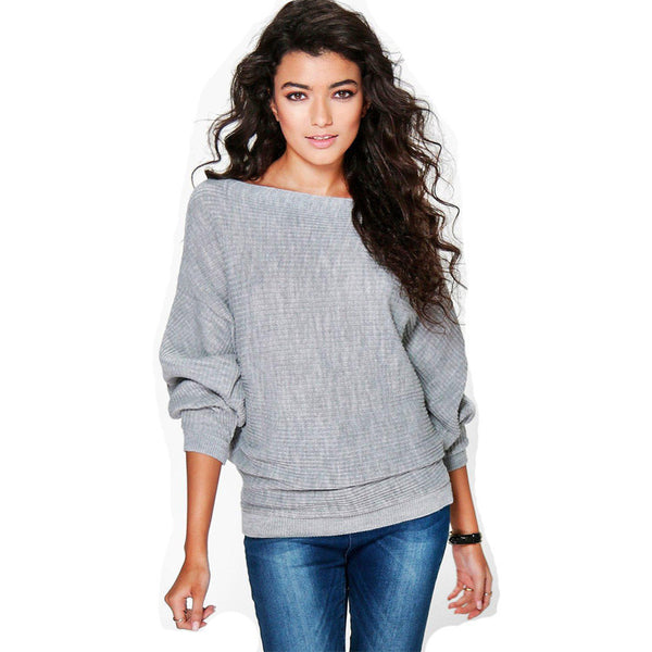 Online discount shop Australia - Fall Fashion Loose Bat Sleeve Knit Sweater