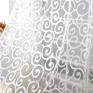 Special Pastoral Floral Tulle Voile Door Scarf Valances Drape Sheer Window CurtainsWhite1 x 2Ma