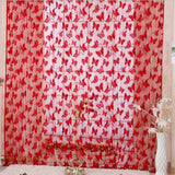 Online discount shop Australia - Colored Romance Butterfly Pattern Tassel String Door Curtain Window Room Curtain Home Decor White Black Red Green