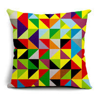 Online discount shop Australia - All kinds of color geometry Cotton inen Blend Waist Cushions Car Sofa Chair Cushions Home Living Decor