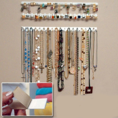 Online discount shop Australia - Adhesive Jewelry earring necklace hanger holder Organizer packaging Display jewelry rack sticky hooks Wall Mount VB297 P16 0.5