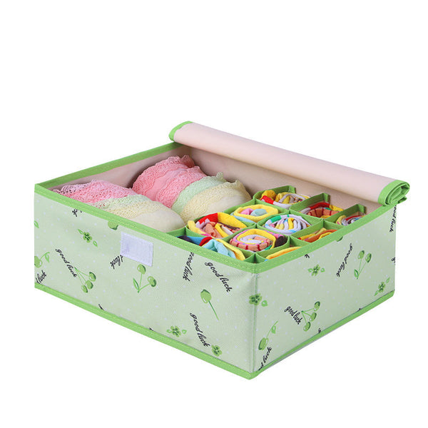 Online discount shop Australia - Colorful Oxford Cloth Storage Box for Bra Underwear Necktie Socks Water Proof Storage Bag 32*26*13cm
