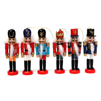 Online discount shop Australia - 6pcs Exquisite Colorful Wooden Nutcracker Handcraft for Friends Children Gifts House Office Home Decoration and Display 12cm