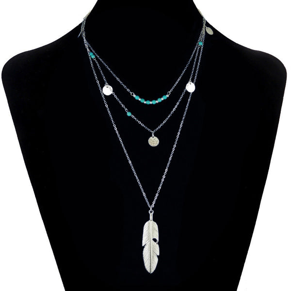 Online discount shop Australia - Bohemian Choker Necklace Women Natural Stone Tassel Long Necklaces & Pendants Fashion Necklaces Women Gold Plated Silver Jewelry
