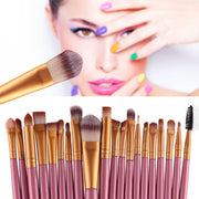 Online discount shop Australia - 20 Pcs Makeup Set Powder Foundation Eye shadow Eyeliner Lip Cosmetic Brushes Kit 15 colors Makeup Brush