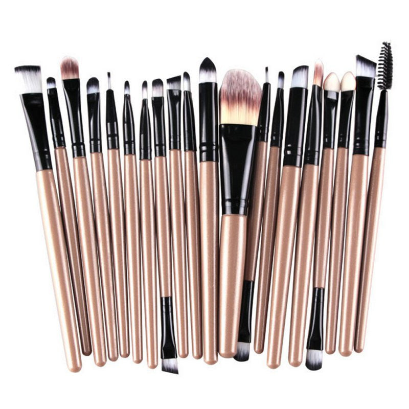 20 Pcs Makeup Set Powder Foundation Eye shadow Eyeliner Lip Cosmetic Brushes Kit 15 colors Makeup Brusha