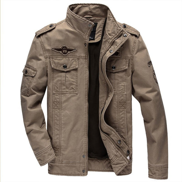 Online discount shop Australia - Jacket Brand Jacking man jackets Men coats Army Military High quality Stand collar Jacket M-6XL