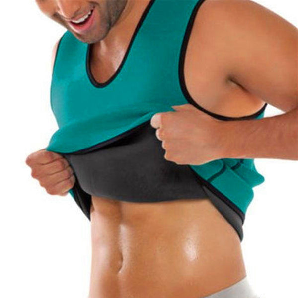 Online discount shop Australia - Men Tops Vest Ultra Sweat Thermal Muscle Shirt hot shapers Neoprene slimming body shaper belly waist and abdomen Belt Shapewear