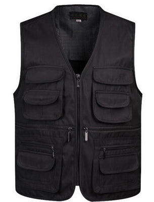 Online discount shop Australia - Man Vests Sleeveless Waistcoat With Many Male Gilet Coat Pockets Jacket Mens Vest Down
